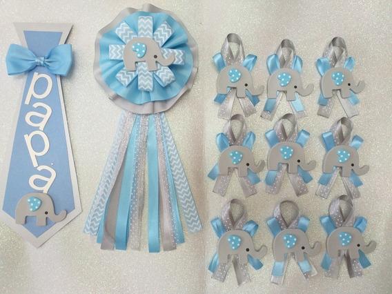 35 Distintivos Elefante + Corsage Para Mamá Y Corbata Baby S