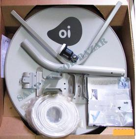 Antena Ku 60cm Oitv C/ Lnb Duplo Universal + 20m Cabo