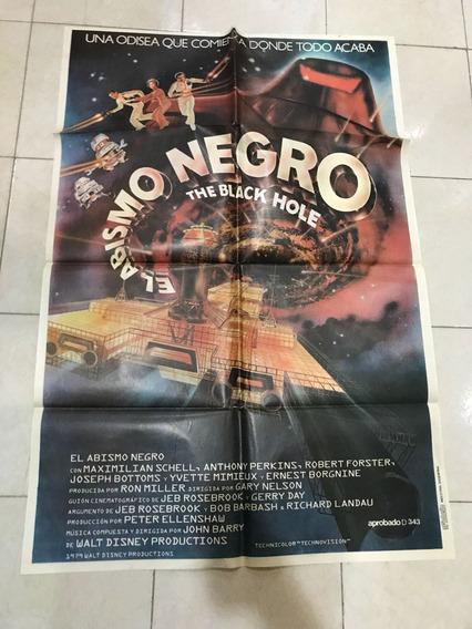 Antiguo Afiche De Cine Original - Abismo Negro-envio Gratis