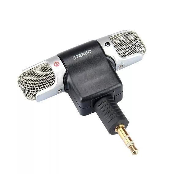 Microfone Stereo Profissional P/ Osmo Dji Lm14 Go Pro