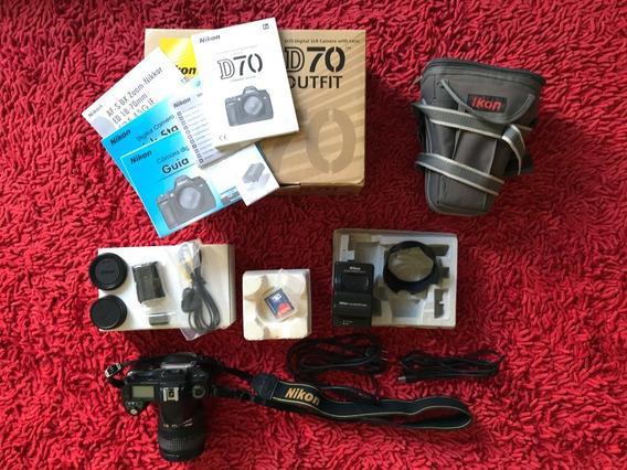 Câmera Fotográfica Nikon D70 Completa Na Caixa
