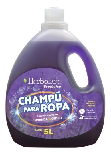 Detergente Ropa Biodegradable Vegano 5lt Herbolare Ecológico