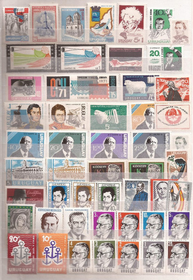 Uruguay 1961/80 Interesante Lote 50 Sellos Mint - 190