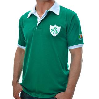Camisa Retro Da Irlanda Anos 70 Retromania Escudo Bordado