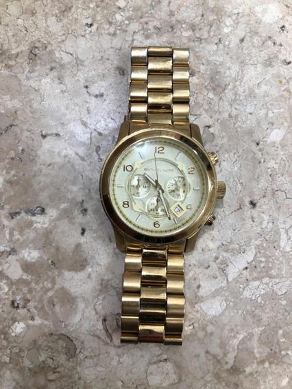 Relógio Michael Kors Autêntico Feminino Dourado Grande
