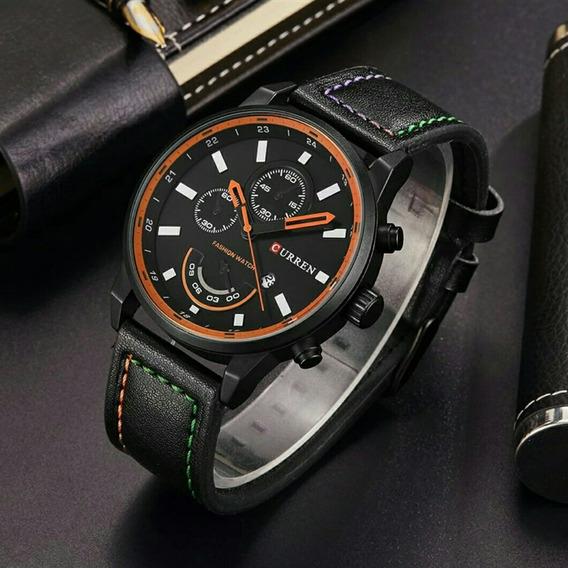 Relógio Masculino Curren Pulseira De Couro Modelo 8217