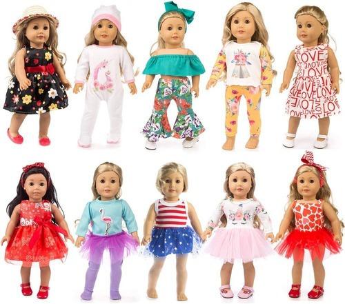 Kit 10 Conjuntos Boneca American Girl Reborn Our Generation