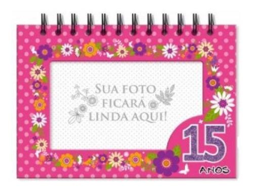 Imagem 1 de 2 de Album De Fotos De Mesa 15 Anos Flores - 4728