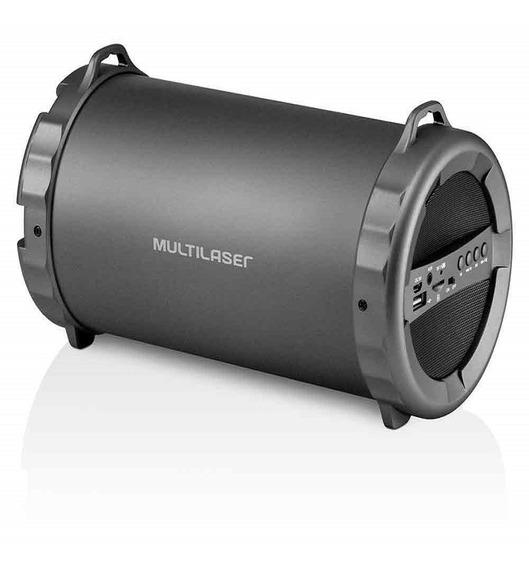 Caixa De Som Bazooka Multilaser Bluetooth/fm/sd/usb/p2 Sp233
