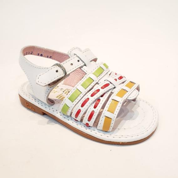 Sandalia Casual Aplicaciones De Colores Para Niñas