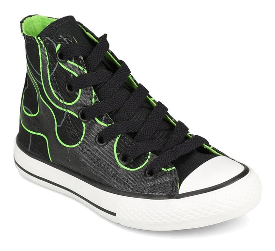Botitas Converse All Star Negro Verde Precio Especial