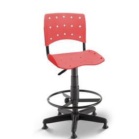 Cadeira Caixa Secretária Balcão Portaria Ergoplax Cereja