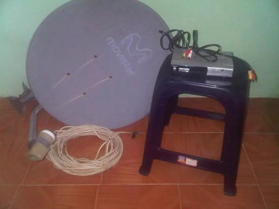 Antena Tv Satelital Usada Con Cable