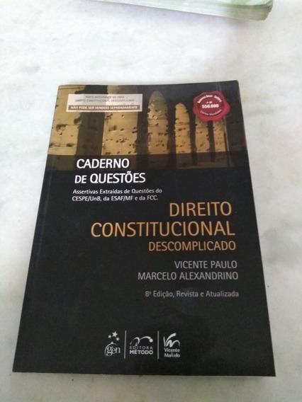 Direito Constitucional Descimplicado Caderno De Questões