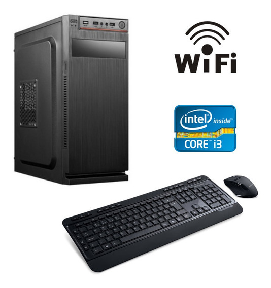 Cpu Desktop Intel I3 4gb Ssd120 Win10 Wifi + Teclado E Mouse