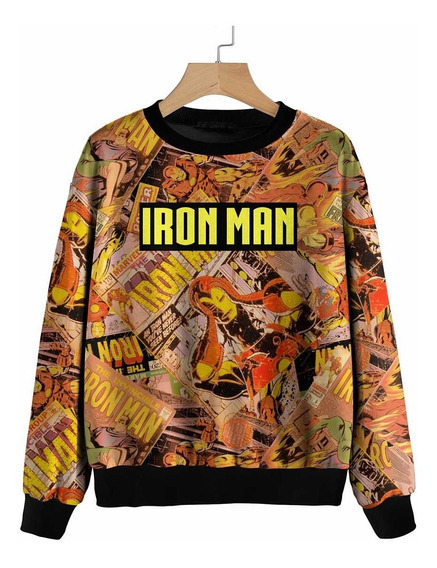 Blusa Moletom Marvel, Vingadores, Capitão America, Ironman