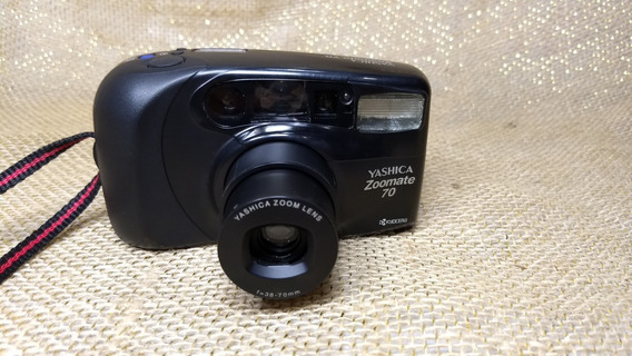 Câmera Yashica Zoomate 70 Fotográfica Filme 35mm Foto Retro