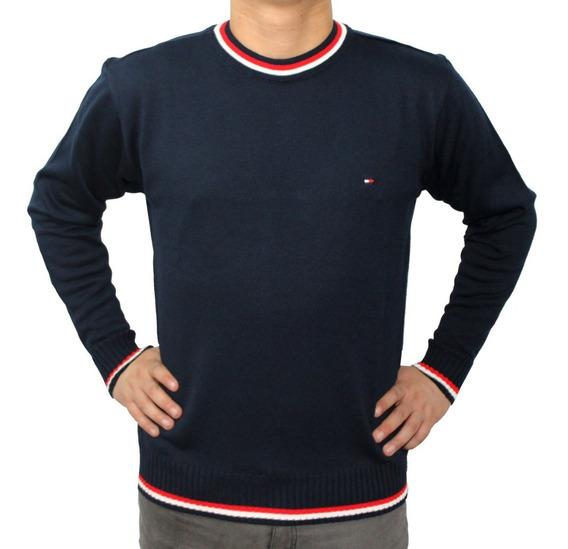Suéter Lã Tricot Gola Redonda Cores