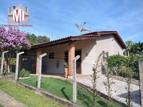 Excelente Chácara Com 02 Dormitórios, Bem Localizada, Horta, Pomar Em Ótimo Bairro À Venda, 500 M² Por R$ 250.000 - Rural - Socorro/sp - Ch0712