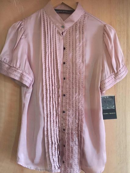 Camisa De Seda Zara Nueva!