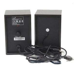 Parlantes De Madera Genius Usb + 4 Watts Diseño Exclusivo