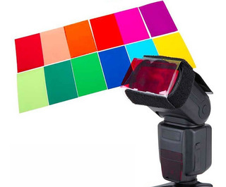 Set Filtros Color P/ Flash Nikon Canon Yongnuo Sony !!