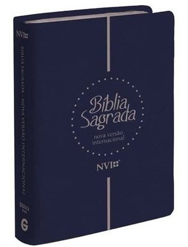 Bíblia Sagrada Letra Extra Gigante Nvi Luxo Grande 17x24 Cm