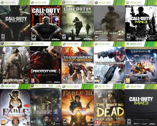Paquete De 14 Juegos Por Un Gran Precio Xbox 360