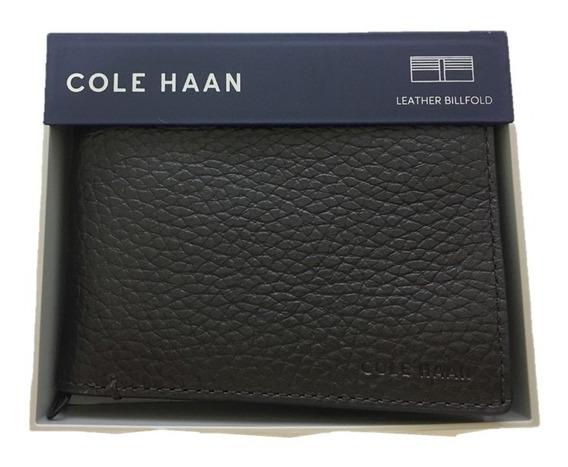 Cartera Hombre Cole Haan Original Piel Chocolate Billfold