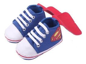 Sapatinho Tênis Bebê Infantil Superman Super Homem Herois