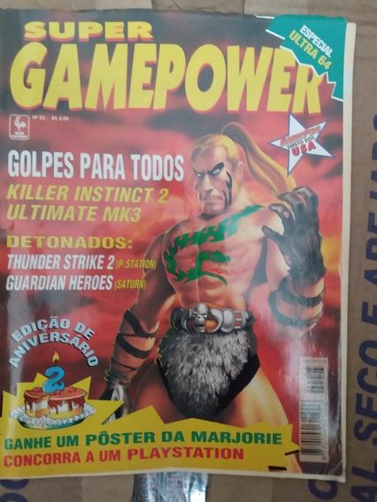 Revista Super Gamepower Nº 25 Phantasy Star 2 ( Sem Pôster )