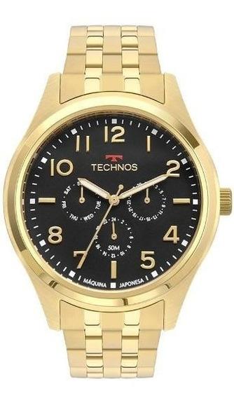 Relógio Technos Masculino Dourado Classic Steel 6p29aki/4p
