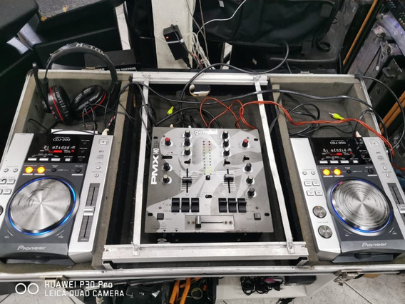 Kit Dj Cdj-200 Pionner + Mixer Gemini Pmx-140 Perfeitos!!!!!