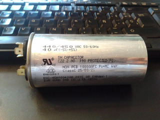 Capacitor Samsung Original Aire Acondicionado 40 Mf