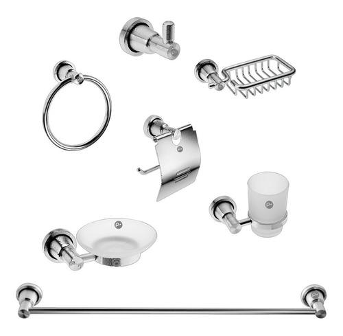 Kit De Accesorios Para Baño En Aluminio 7 Piezas
