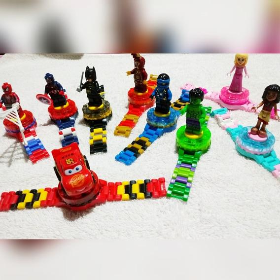 Relógios Infantis Em Atacado + Brinquedo ( 05 Unidades)