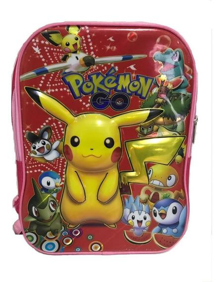 Mochila Escolar Infantil Personagens Pikachu