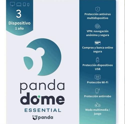Imagen 1 de 5 de Panda Dome Essential 2021 - 1 Año 1 Equipos Licencia Origina