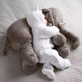Almofada Elefante Bebê Travesseiro Pelúcia 50cm Antialérgico