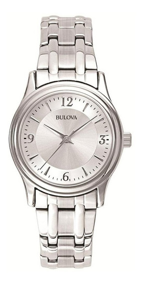 Reloj Bulova Corporate De Acero Inoxidable 96l005 Para Dama