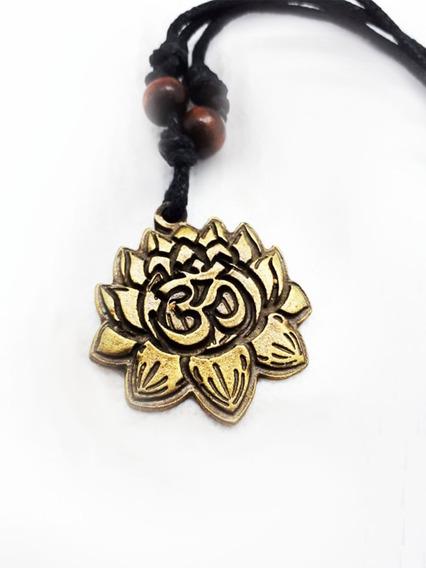 Colar Pingente Metal Flor De Lótus