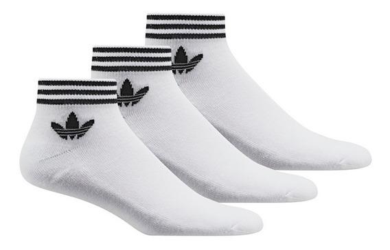 Medias adidas Originals Trefoil Ank Str X 3 Blancas
