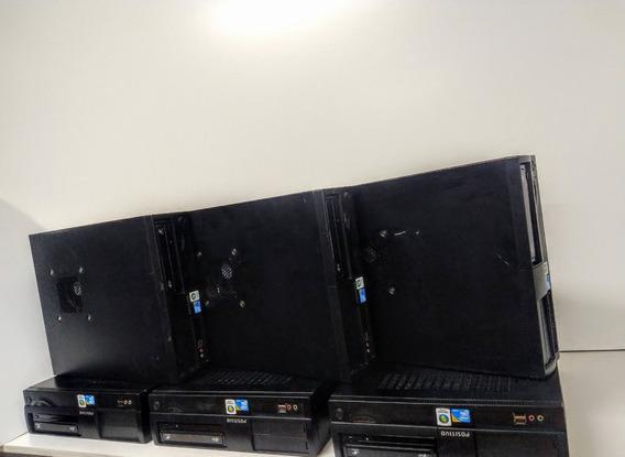 2 Computadores Core 2 Duo + Monitor + Teclado+mouse