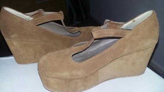 Zapatos De Gamuza Lucerna Semi Nuevas 1 Sólo Uso!