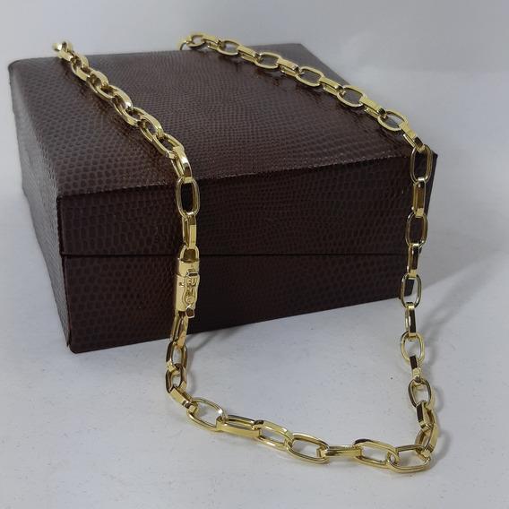 Corrente Cordão Baguet 12g 70cm 5mm Ouro 18k Com Nota Fiscal