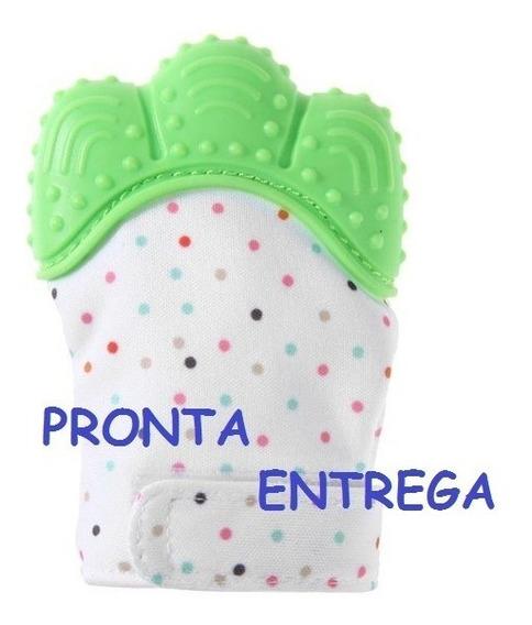 *promoção* Luva Mordedora Bebê Cor Verde Só 1 Peça P/cliente