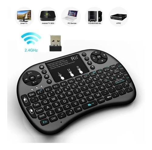 Mini Teclado Wireless Touchpad  Ps3 Xbox Celulares Smart Tv