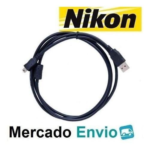Imagem 1 de 3 de Cabo Dados Usb Nikon D40 D40x D50 D60 D70 D70s D80 D90 Novo