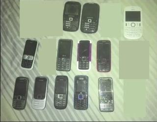 Lote Com 12 Celular Antigo Nokia Sansung LG No Estado
