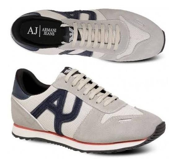 Tênis Masculino Armani Jeans Original Importado Couro 100%